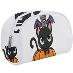 Halloween Cute Cat Makeup Case (large) by HermanTelo