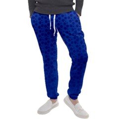 Background Polka Blue Men s Jogger Sweatpants by HermanTelo