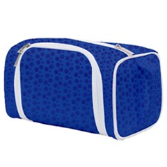 Background Polka Blue Toiletries Pouch