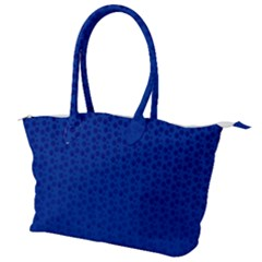 Background Polka Blue Canvas Shoulder Bag by HermanTelo