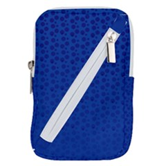 Background Polka Blue Belt Pouch Bag (small)