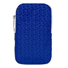 Background Polka Blue Waist Pouch (large)