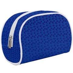 Background Polka Blue Makeup Case (large) by HermanTelo