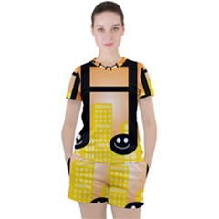 Abstract Anthropomorphic Art Women s Tee And Shorts Set