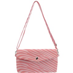Pattern Texture Pink Removable Strap Clutch Bag
