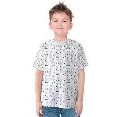Music Notes Background Wallpaper Kids  Cotton Tee