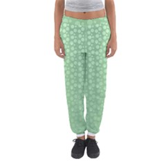 Background Polka Green Women s Jogger Sweatpants