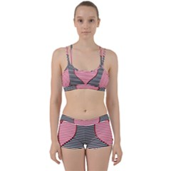 Heart Stripes Symbol Striped Perfect Fit Gym Set by HermanTelo