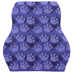 Pattern Texture Feet Dog Blue Car Seat Velour Cushion