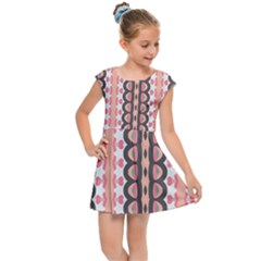 Wallpaper Cute Pattern Kids  Cap Sleeve Dress