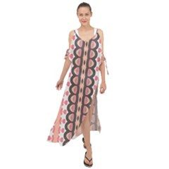 Wallpaper Cute Pattern Maxi Chiffon Cover Up Dress