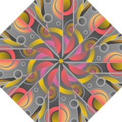 Abstract Colorful Background Grey Hook Handle Umbrellas (large)