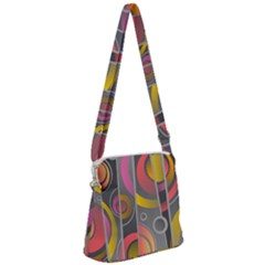 Abstract Colorful Background Grey Zipper Messenger Bag