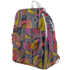 Abstract Colorful Background Grey Top Flap Backpack