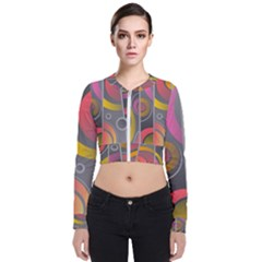 Abstract Colorful Background Grey Long Sleeve Zip Up Bomber Jacket by HermanTelo