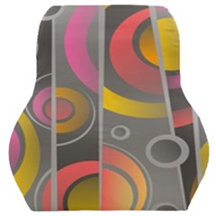 Abstract Colorful Background Grey Car Seat Back Cushion