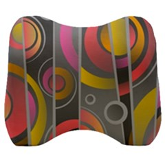 Abstract Colorful Background Grey Velour Head Support Cushion