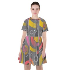 Abstract Colorful Background Grey Sailor Dress