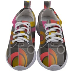 Abstract Colorful Background Grey Kids Athletic Shoes by HermanTelo