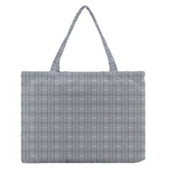 Pattern Shapes Zipper Medium Tote Bag