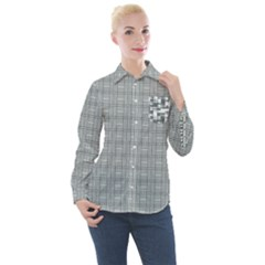 Pattern Shapes Women s Long Sleeve Pocket Shirt