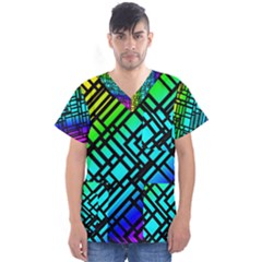 Background Texture Colour Men s V-neck Scrub Top