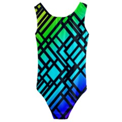 Background Texture Colour Kids  Cut Out Back One Piece Swimsuit