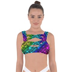 Background Texture Colour Bandaged Up Bikini Top