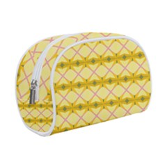 Pattern Pink Yellow Makeup Case (small)