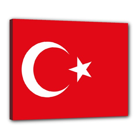 Flag Of Turkey Canvas 20  X 16  (stretched) by abbeyz71