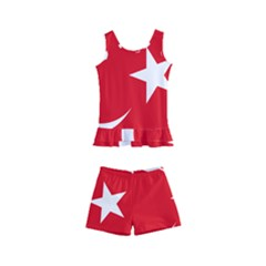 Flag Of Turkey Kids  Boyleg Swimsuit by abbeyz71