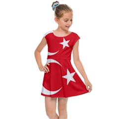 Flag Of Turkey Kids  Cap Sleeve Dress by abbeyz71