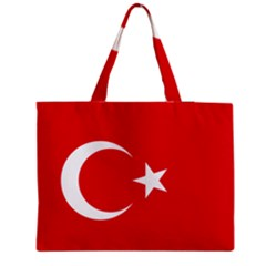 Flag Of Turkey Zipper Medium Tote Bag by abbeyz71
