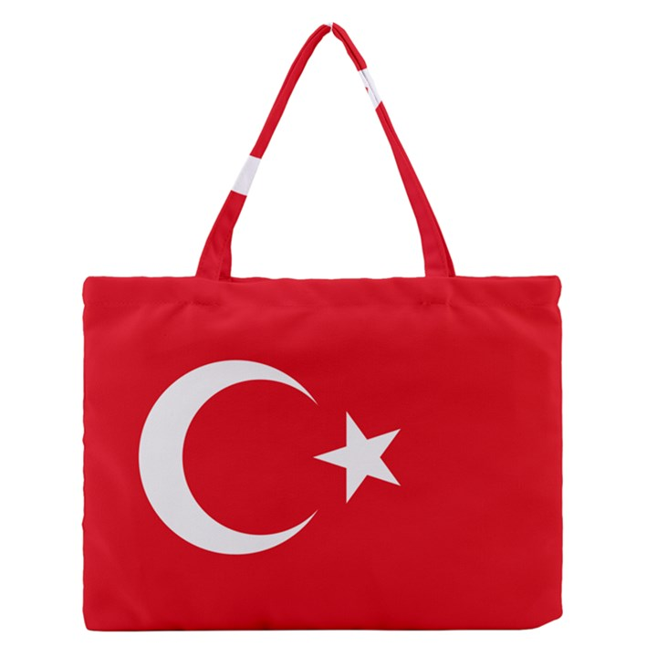 Flag of Turkey Zipper Medium Tote Bag