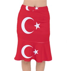 Flag Of Turkey Short Mermaid Skirt by abbeyz71