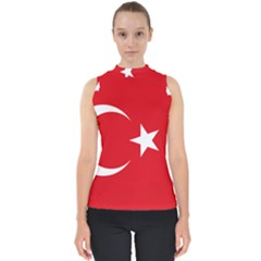 Flag Of Turkey Mock Neck Shell Top by abbeyz71