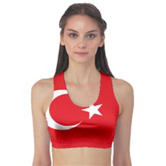 Vertical Flag Of Turkey Sports Bra by abbeyz71