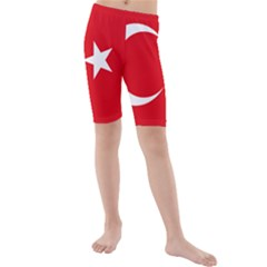 Vertical Flag Of Turkey Kids  Mid Length Swim Shorts by abbeyz71