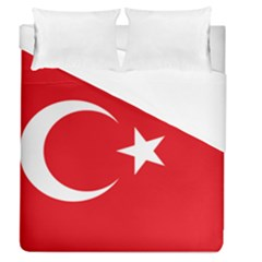 Vertical Flag Of Turkey Duvet Cover (queen Size) by abbeyz71