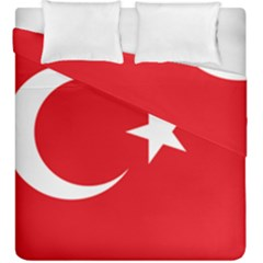 Vertical Flag Of Turkey Duvet Cover Double Side (king Size) by abbeyz71