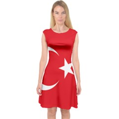 Vertical Flag Of Turkey Capsleeve Midi Dress by abbeyz71