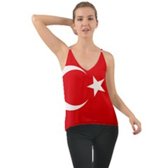 Vertical Flag Of Turkey Chiffon Cami by abbeyz71