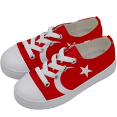 Vertical Flag Of Turkey Kids  Low Top Canvas Sneakers by abbeyz71