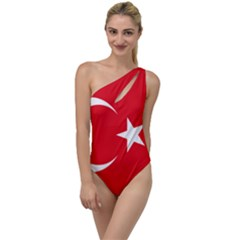 National Cockade Of Turkey To One Side Swimsuit by abbeyz71