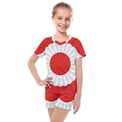 National Cockade Of Turkey Kids  Mesh Tee And Shorts Set by abbeyz71
