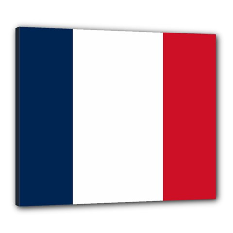 Flag Of France Canvas 24  X 20  (stretched) by abbeyz71