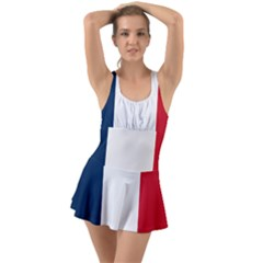 Flag Of France Ruffle Top Dress Swimsuit by abbeyz71