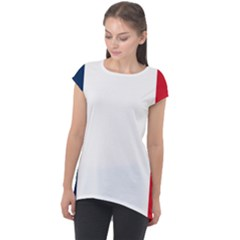 Flag Of France Cap Sleeve High Low Top by abbeyz71