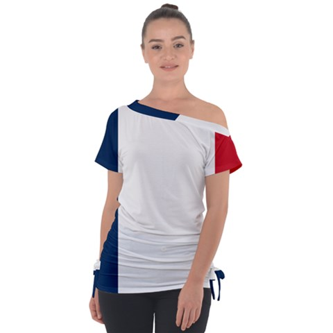 Flag Of France Tie-up Tee by abbeyz71