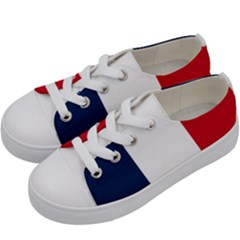 Flag Of France Kids  Low Top Canvas Sneakers by abbeyz71